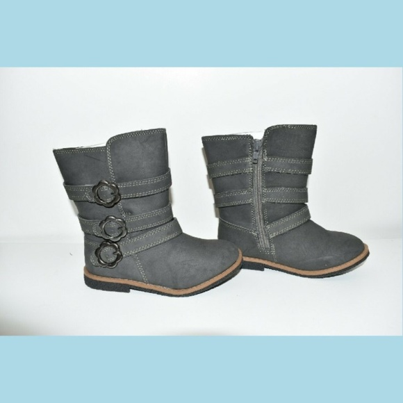 88c40ed554e8 Carters Toddler Girls Boots Size 5 Pewter Grey